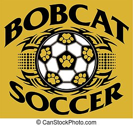 bobcat soccer - tribal bobcat soccer team design with paw ...