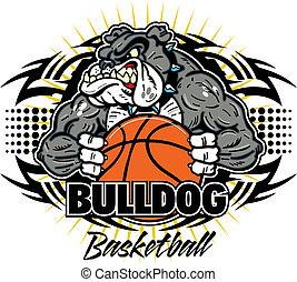 tribal, bulldog, baloncesto