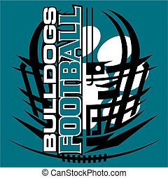 bulldogs football - tribal bulldogs football team design...
