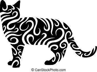 tribal cat