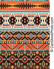 Tribal colorful seamless pattern
