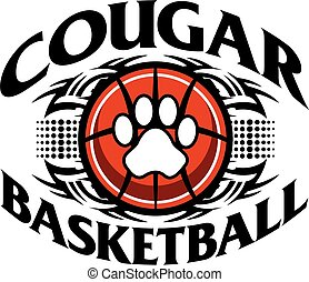 cougar basketball - tribal cougar basketball team design ...