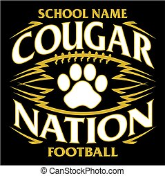 cougar nation football - tribal cougar nation football team...