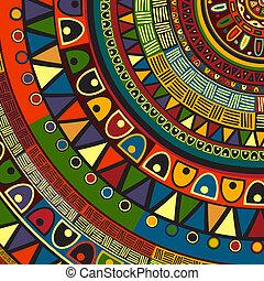 tribal, desenho, colorido