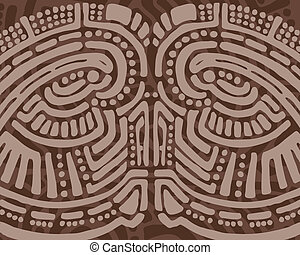 Tribal design background - Brown tribal design background of...