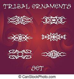 Tribal design elements and tattoo ornaments