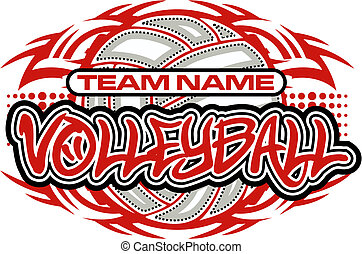 tribal, diseño, voleibol