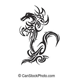 dragon tattoo art vector