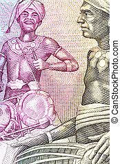 Tribal Drummers on Currency Note