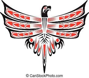 tribal, eagle.