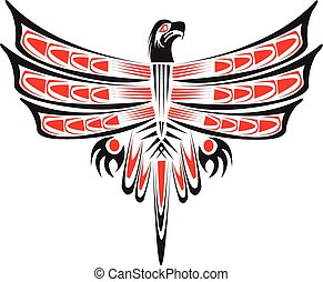tribal, eagle.