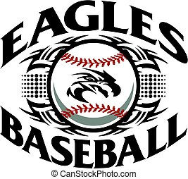 eagles baseball - tribal eagles baseball team design with...