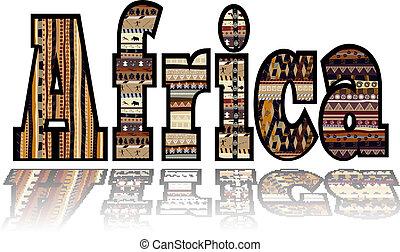 tribal, elementos, áfrica