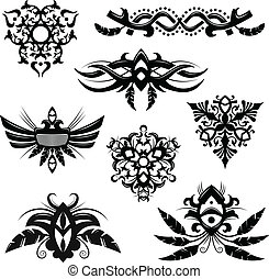 Tribal elements - Set of 8 tribal polynesian designs and...