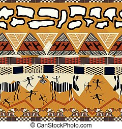Tribal ethnic African seamless