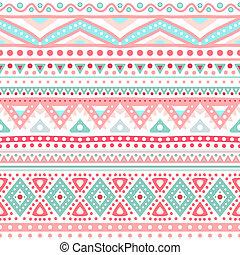Tribal ethnic seamless stripe pattern. Vector illustration...