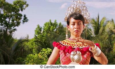 tribal, femme, iban