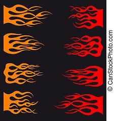tribal, flammes