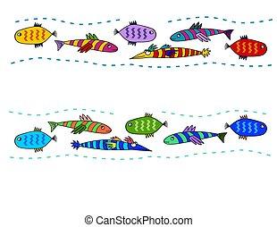 tribal folk art fish