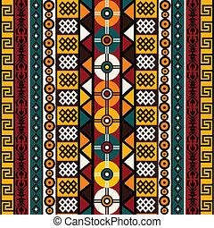 tribal, fond, motifs, ethnique