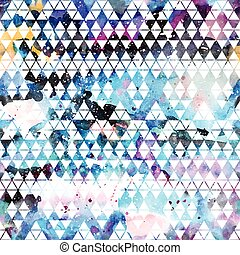 Tribal galaxy seamless pattern. Vector trendy illustration.