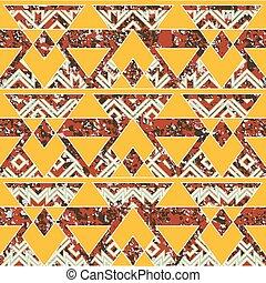 Tribal geometric pattern with grunge effect.