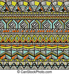 Tribal hand-drawn pattern
