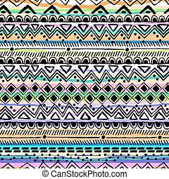Tribal hand drawn stripe