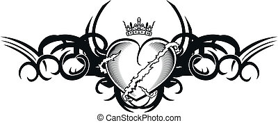 tribal heart tattoo tshirt1