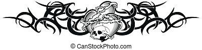 tribal heart tattoo tshirt4