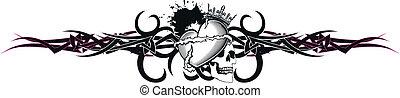 tribal heart tattoo tshirt5