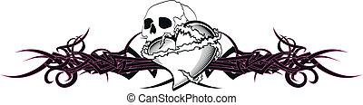 tribal heart tattoo tshirt6