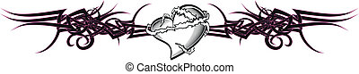 tribal heart tattoo tshirt7