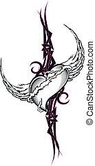 tribal heart tattoo tshirt9