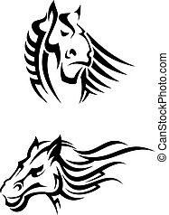 Tribal horses mascots