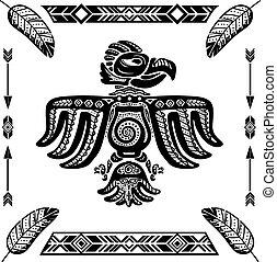 Tribal indian eagle tattoo