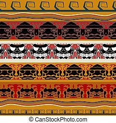 tribal, indianas, padrão