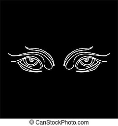 tribal line eyes vector art