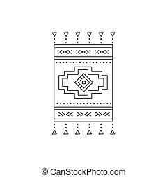 Tribal line icon