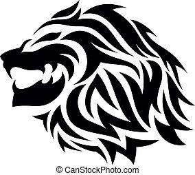 Tribal lion tatoo