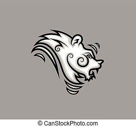Tribal Lion Tattoo Design
