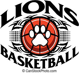 lions basketball - tribal lions basketball team design with ...