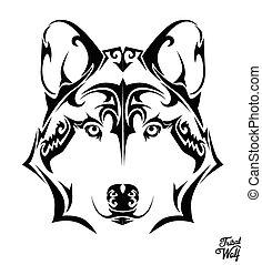 tribal, lobo
