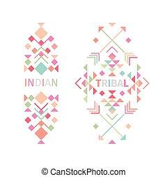 Tribal logo set on white background