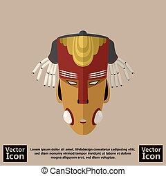Tribal mask symbol