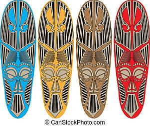Tribal masks.