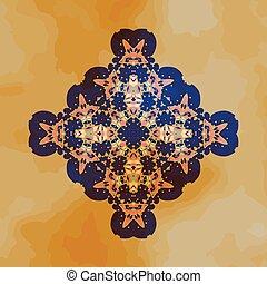 Tribal Motif design. Mandala chakra yantra karma template