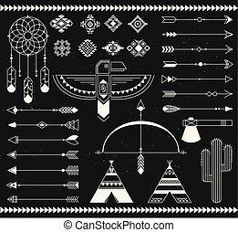 Tribal native american indian element. - Navajo american...