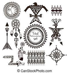 Tribal native american set - Tribal native american indian ...