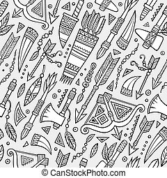 Tribal native ethnic seamless pattern - Tribal abstract ...